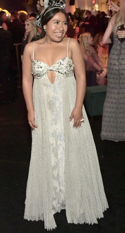 El Vestido De Yalitza Aparicio En Los Golden Globes