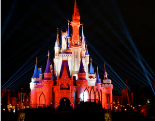 Cinderella's Castle Celebrates the Bucs' Big Super Bowl Win