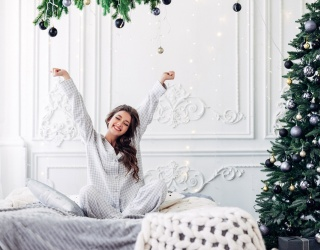 Brig's Buys: Gather Around the Christmas Tree in a Sleek Pair of Satin PJs