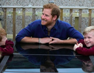 Prince Harry's Casual Visit With This Young Family Made Us Cry