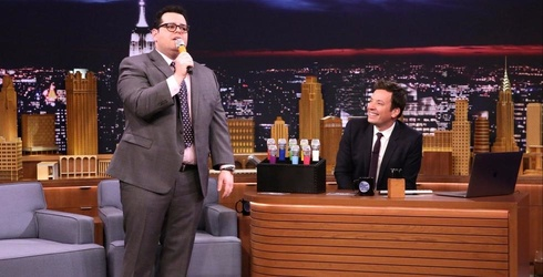 """Josh Gad and Jimmy Fallon Hilariously Sing Auto-Tuned """"Beauty and the Beast"""" Song on """"The Tonight Show"""""""