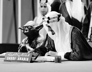 Saudi History Textbook Accidentally Features a Photo of Yoda With the Late King Faisal