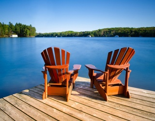 Take a Seat and Unscramble These Adirondack Chairs for a Lakeside View