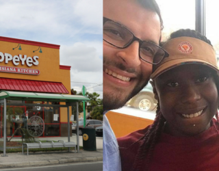 Retired Cop Surprises Popeyes Employee by Paying School Tuition