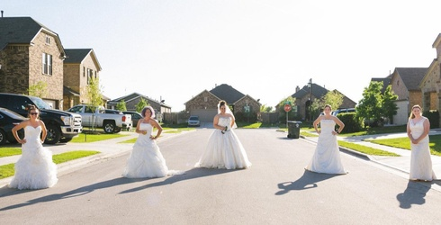 """Help Get Over Hump Day by Channeling These Neighbors' """"Wedding Dress Wednesday"""" Fun"""