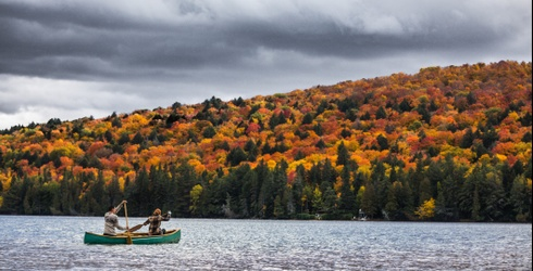 Fall Foliage Is Just Around the River Bend in This Brisk Canoeing Puzzle