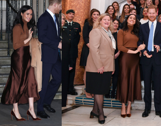 Who Else Was Very Into Meghan Markle's Chocolate Ensemble at Canada House?