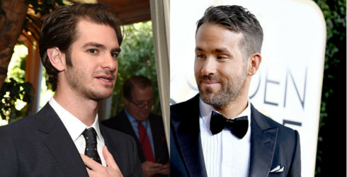 Watch Ryan Reynolds and Andrew Garfield Lock Lips at the Golden Globes