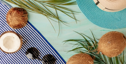 This Tropical Puzzle Has Us Feeling All Types of Coastal Cool