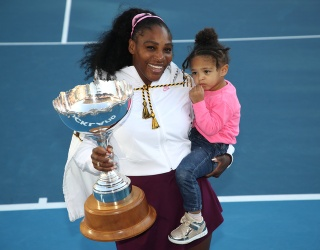 Serena Williams' Clinginess Was Tested as Olympia Had Her First Tennis Lesson