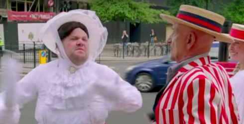 """James Corden Premieres """"Crosswalk the Musical: Mary Poppins,"""" Risks Injury in the Name of Theater"""
