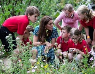 Kate Middleton (Kinda) Gets Her Hands Dirty at Hampton Court Flower Festival