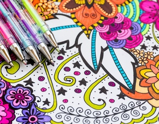 Go to Your Happy Place With This Adult Coloring Book Puzzle