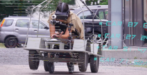 This Video of Humans Pretending to Be Self-Driving Cars Is Dystopian Hilarity at Its Finest