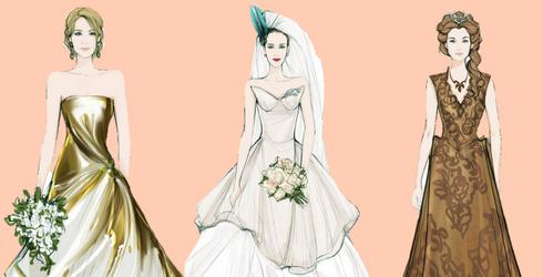 U.K. Jeweler Sketches Fan Favorite Wedding Dresses, Vision Boards Explode