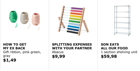 Ikea Solves Your Problems by Renaming Products in Hilarious Way