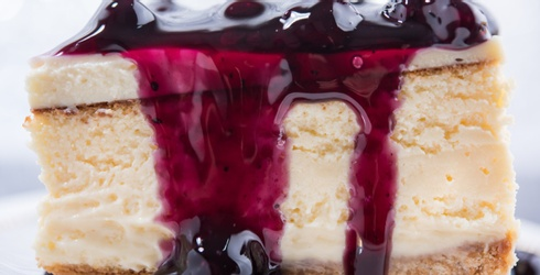 Unscramble This Puzzle to Enjoy a Slice of Blueberry Cheesecake