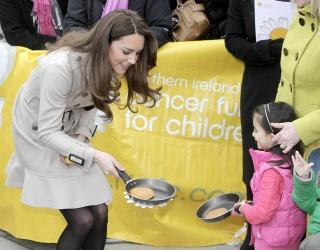 Kate Middleton Flips a Pancake in Royal Flashback Photo