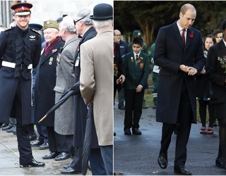Prince William and Prince Harry Honor Veterans in London