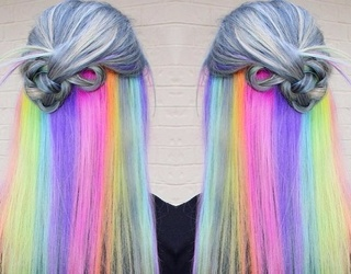 The New Hidden Rainbow Hair Trend We're Dying Over