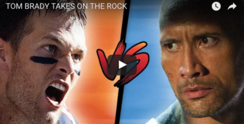 Dwayne Johnson and Tom Brady Make the Most Painfully Awkward Video Ever