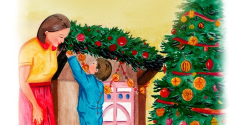 These Illustrations of Holiday Traditions Will Have You Hearing Sleigh Bells