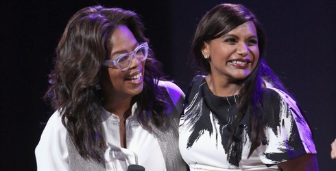 Mindy Kaling Responded to Oprah's Text While in Labor and TBH I Would Too
