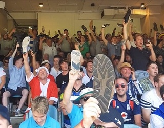 This Stadium Full of Cricket Fans Waving Their Shoes Around Is What Unity Looks Like in 2017