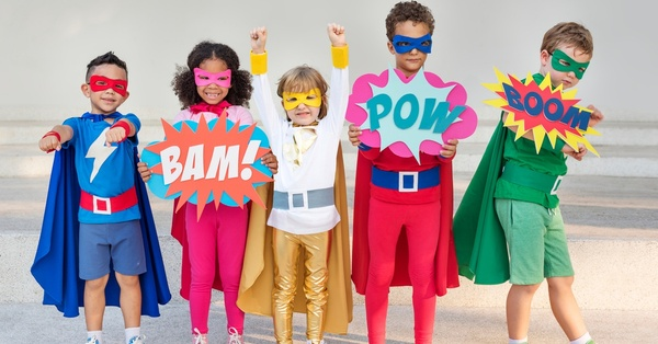 Can You Find the Differences in These Superhero Kids?