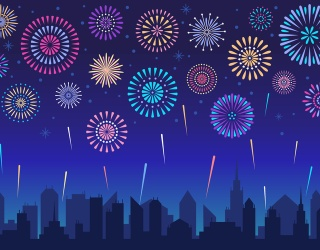 Count Down to Midnight by Finding the Differences in These 2020 Fireworks Photos