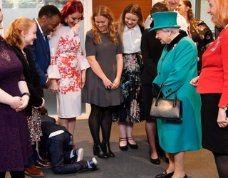 Boy Too Shy to Meet The Queen Crawls Out of the Room