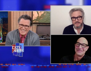 """Colin Firth and Stanley Tucci's Banter on """"The Late Show"""" Is Marvelous"""