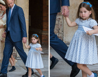 """Loud & Clear: Princess Charlotte Tells Photographers They're """"Not Coming"""" to Post-Christening Reception"""