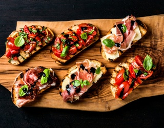 Build Your Best Bruschetta Spread With the Help of This Puzzle (and a Glass of Red)