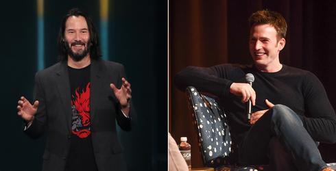 Keanu Reeves Is Having Himself a Summer, and Chris Evans Is His Biggest Fan