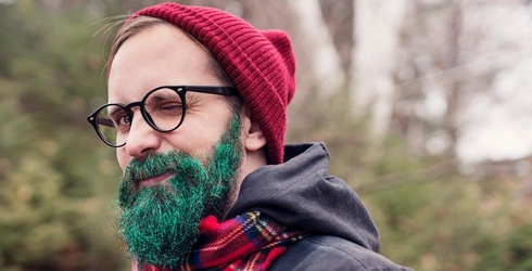 Be the Hero of the Holiday Party With One of These Show-Stopping Glitter Beards [Memory Match]
