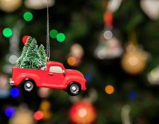 Toot! Toot! It's a Christmas Ornament Memory Match