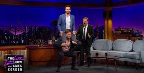 "Nikolaj Coster-Waldau Demonstrates Prison Workout On ""Late Late Show"" by Squatting Lin-Manuel Miranda"