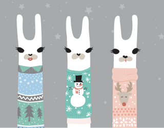 Spot the Differences: Llamas in Holiday Sweaters